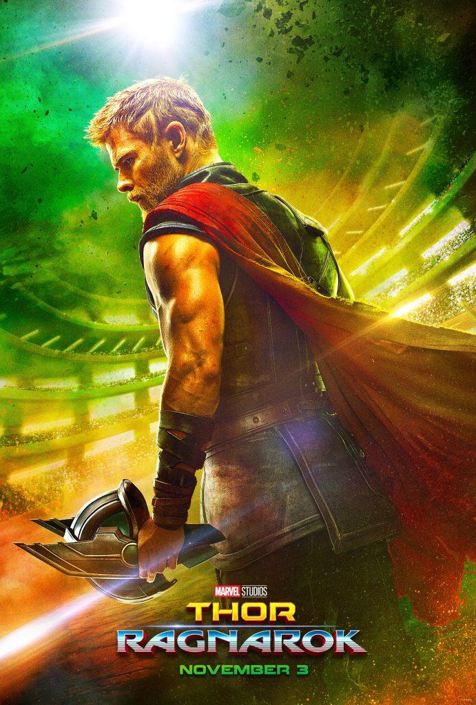 The first poster for Marvel's Thor: Ragnarok.